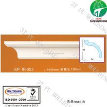 EP-86053 PU foam polyurethane rfl pvc door price decorative bathroom wall panels plastic ceiling moulding