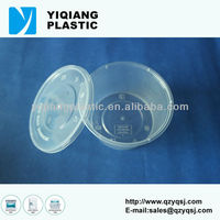 Disposable small plastic containers with locking lid