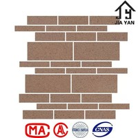 Fire insulation dirt resistant clay mosaic tiles