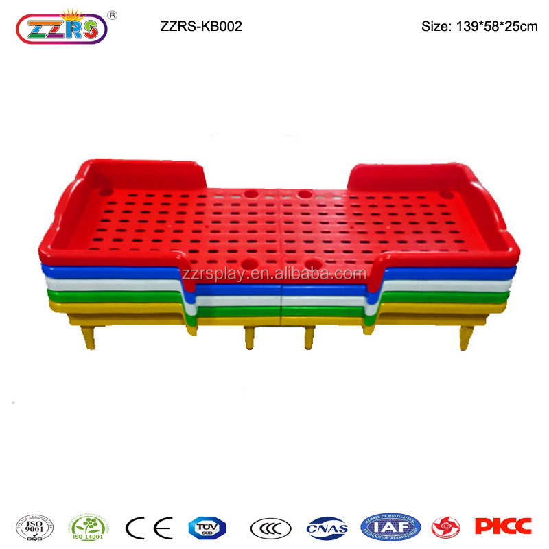 kindergarten furniture wholesale children plastic bed folding bed kids