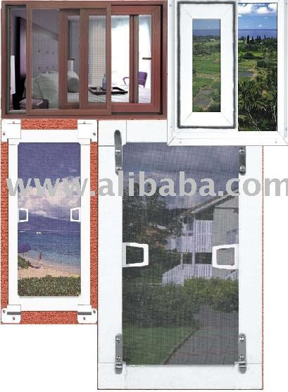Fly Screen systems and profiles for Windows and Doors