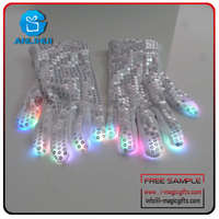 Concert white tips party led glove flashing stuff
