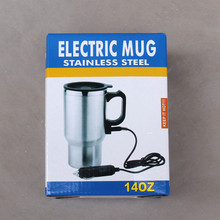 wholesale hot sell stainless steel usb double wall heated electric auto mug used in the car