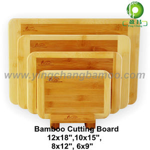 Bamboo chopping cutting board set with holder