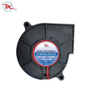 Standard TONGXIN 7530 Mini 75mm Micro 75x75mm Small Laptop Exhaust 12V DC Electric Blower Fan 75x75x30 mm (TXB7530)