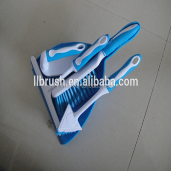 plastic handle dustpan & brush set for cleaning table