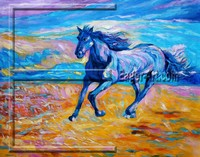 $15.16 size 80x60cm Wholesale Running Horse Oil Painting