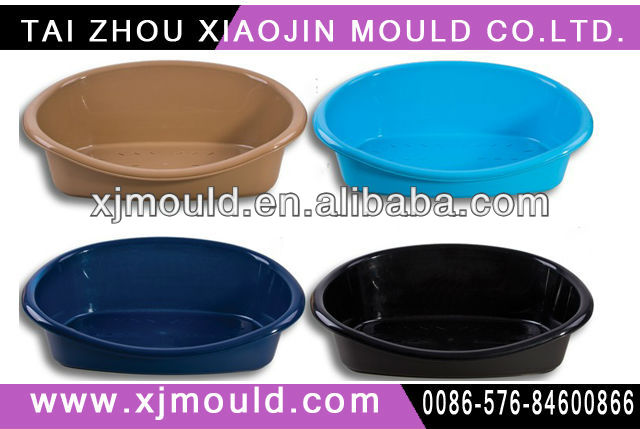 custom made plastic pet dog bed with mat moulds/mold,plastic injection pet beds mold