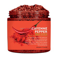 100% All Natural Ingredients Cayenne Pepper Dead Sea Salt Body Scrub