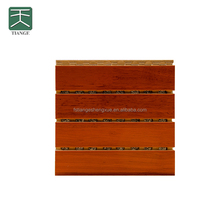 Soundproofing acoustic mdf cherry wood veneer panel