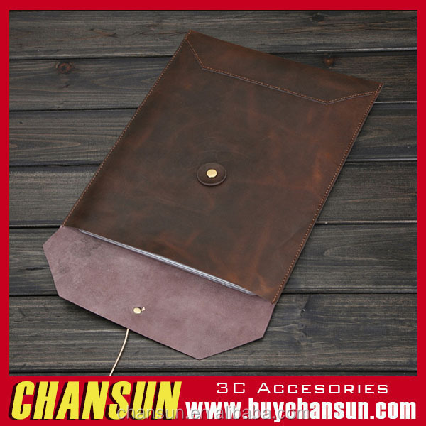 Genuine Leather Bag Pouch Sleeve Case Cover For Apple Macbook Air 13