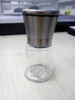 304SUS +glass pepper and salt grinder set