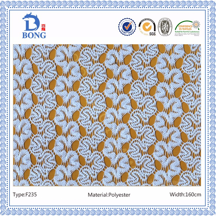 High quality african style polyester lace fabric for garment