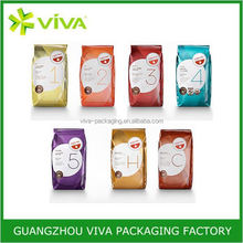 Manufacture screen printing paper plastic coffee pouch with valve