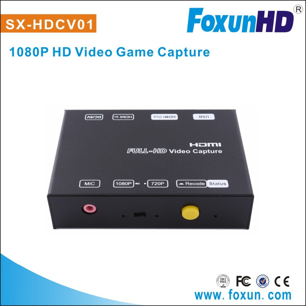 SHUNXUN 2015 Recording with one-click ,easy to use 1080P HD Video Capture game capture
