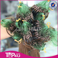 Hot sale wholesale remy full cuticle strong high-end micro braids on weft
