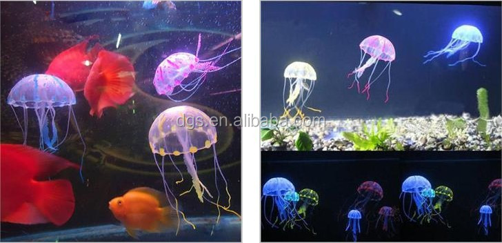 Wholesale Cheap Price Fish Jar Decoration Fish Tank Ligh Jellyfish Fish Aquarium Decoration