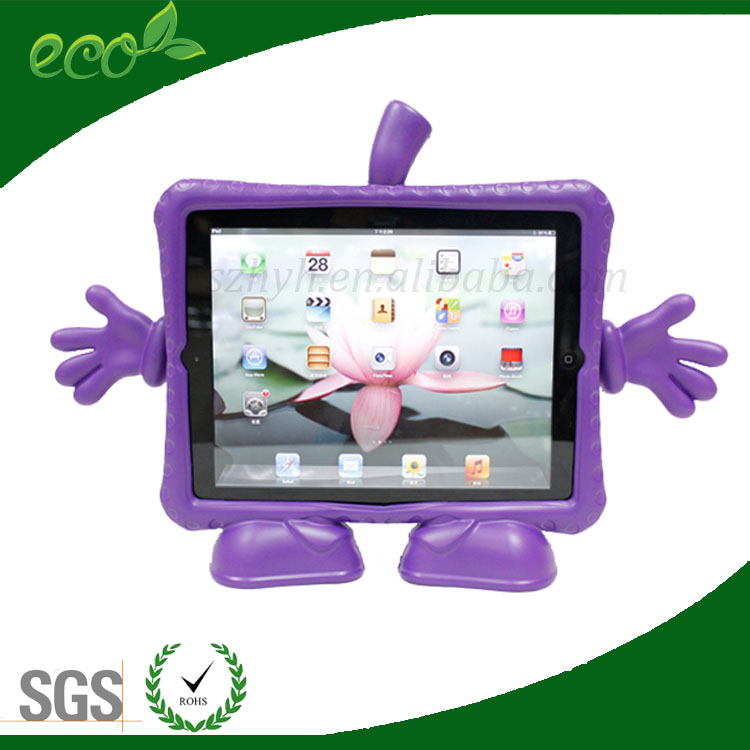 high quality cartoon waterproof thick rubber material tablet case EVA foam tablet pc case for ipad 2 ipad 3 ipad 4