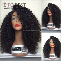 E-forest Christmas Gift For Fashion Women Afro black wig Kinky Wig Short Curly Hair Full Lace Kinky Curly Wigs Black Friday