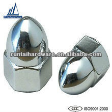 High Crown Polished Stainless Steel Acorn Nuts