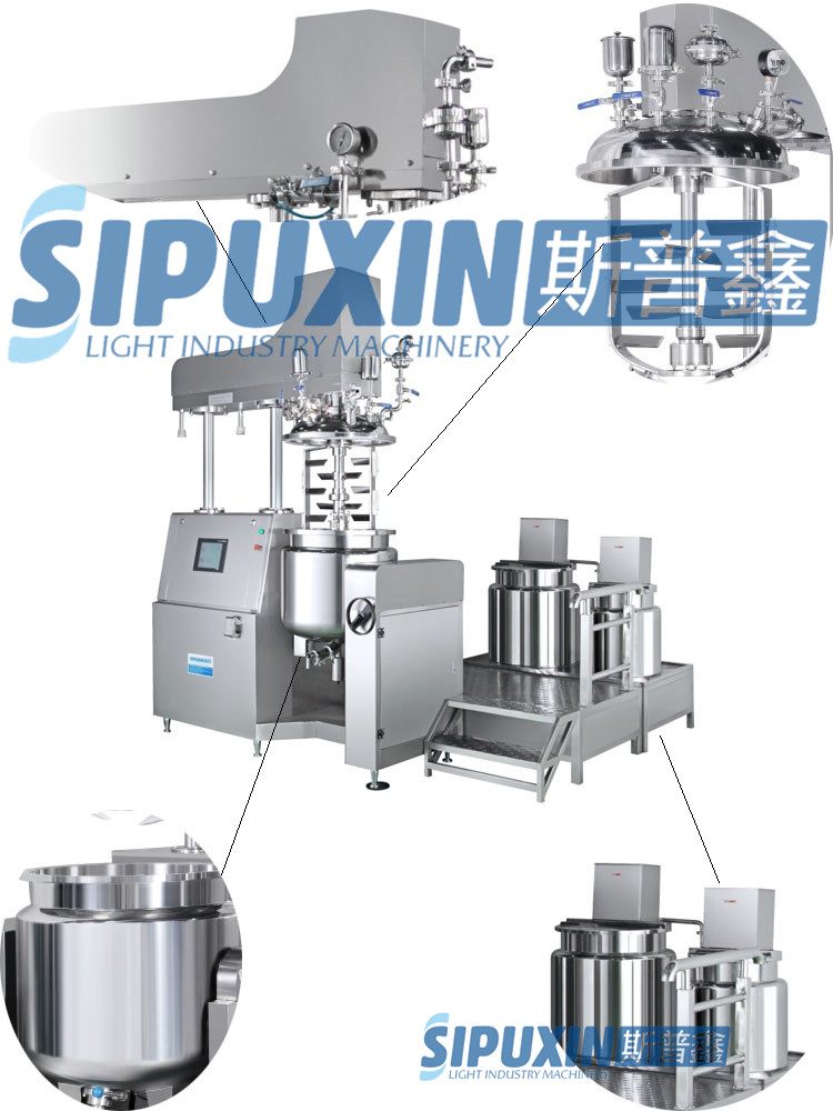 Sipuxin_Commodity vacuum homogenizer mixer, emulsifier machine for body lotion, facial cream