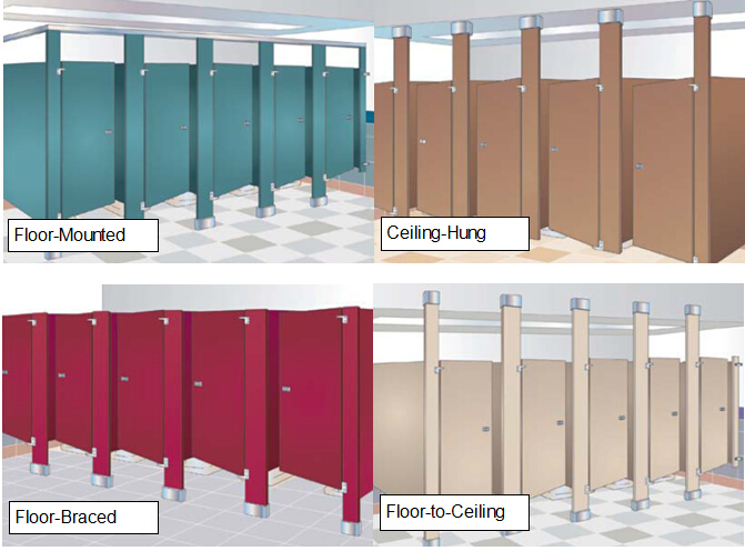 ladies toilet partition/ bathroom partition/ wc divider board