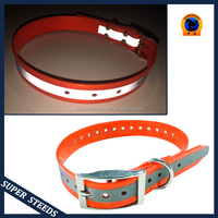 Retractable cervical Reflective mental buckles dog collars