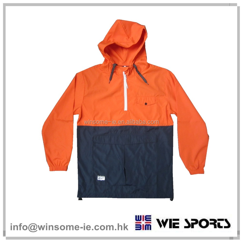 Hot sales factory price OEM customized Mens half zip jacket with hood
