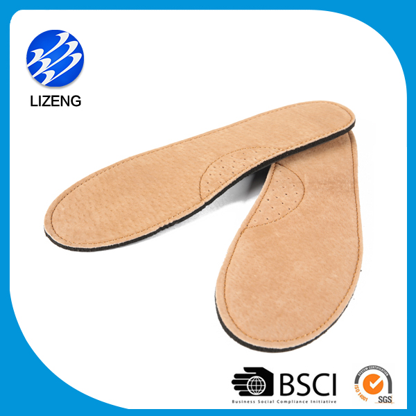 comfort geunine pigskin leather insoles supplier