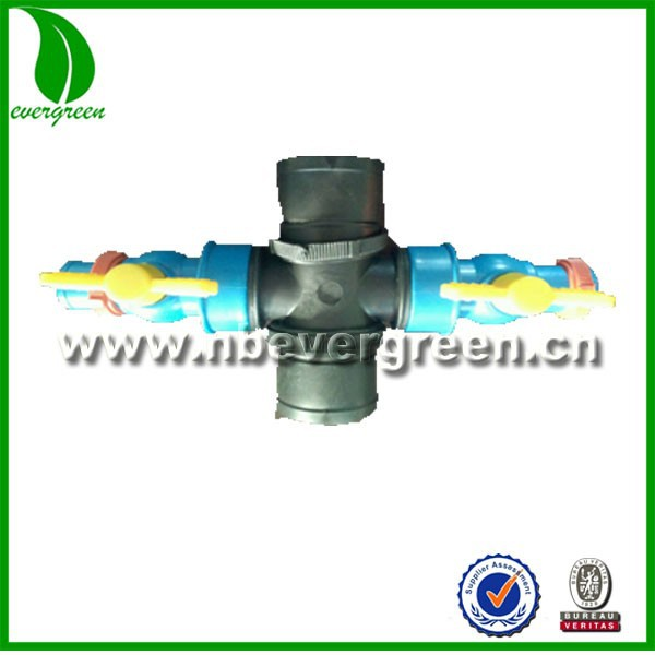 2inch to1inch cross coupliing valve for micro spray tube