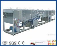 continuous tunnel pasteurizer for juice bottles