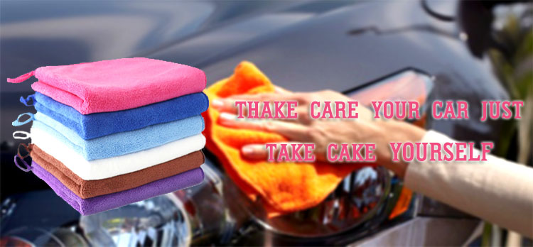 wholesale custom 1200 gsm microfiber car cleaning towel with hanger