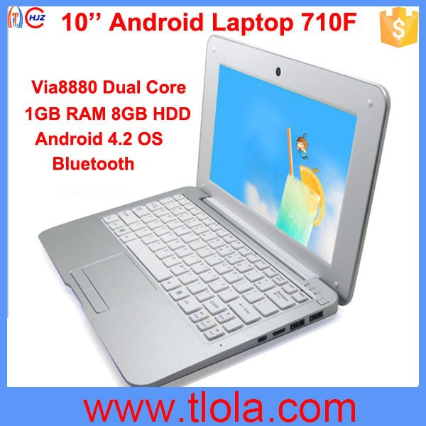 Cheapest 10 inch Android Laptop with Bluetooth WIFI Camera 710F