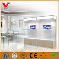 Retail store furniture display/ shopping store glass corner cabinet