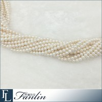 Wholesale price 5 - 5.5mm round freshwater white pearl loose pearl strand