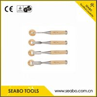 Carbon steel good quality wood carving chisel/wooden turning tools with soft grip handle
