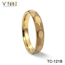2018 trends of hot products of high quality tungsten steel rose gold ring