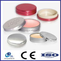 2015 new design metal lip balm box/cosmetic tin can/lip balm tin container