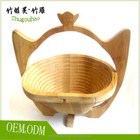 Simple style wooden fruit bowl easy clean