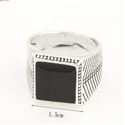 Cheap wholesale stainless steel fancy engagement ring for men
