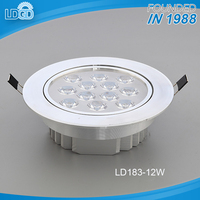 Fashion design high power 3000k-7000k pure white 12w dimmable SMD led spot lamp with CE certification