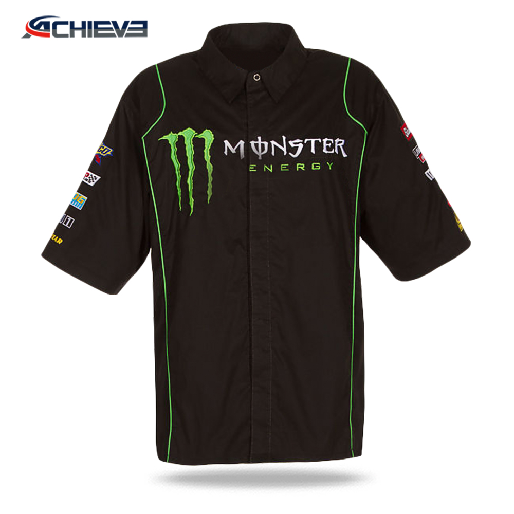 Fashion hot selling motocross shirts racing custom polo unlined upper garment design 2020