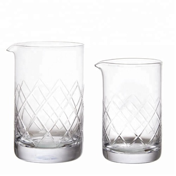 500ml engraving crystal cocktail mixing glass