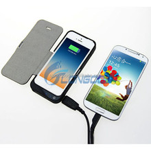 4200mah Li-polymer battery case for iphone 5 , for iphone 5 battery case with leather cover power bank charger