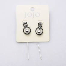 Fashion design Drop Earring Geometric figure,round and a ball And Pendant silver earring