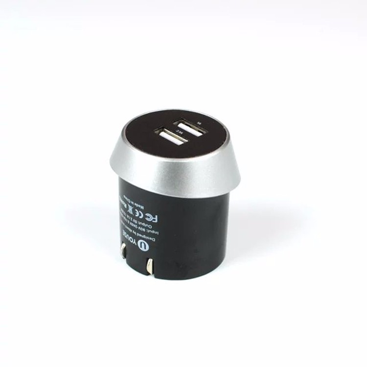 Wholesales Dual USB 2.4A Adapter With US Folding Socket Travel Wall Charger