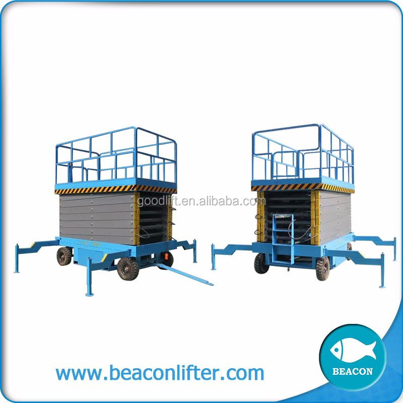 best selling small lift aerial platform mobile motocross scissor lift