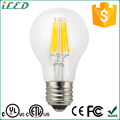 A19 cUL CE Approved Efficient LED Energy Saving Lamp 6W LED Filament Daylight Bulb 3000K