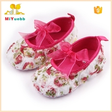 Colorful Rose Soft Butterfly-knot Baby Girl Crib Shoes