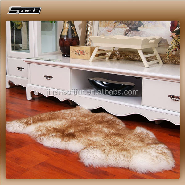Home Use Sheepskin Leather Material Finished Shaped Sheep skin rugs